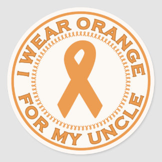 I Wear Orange For My Uncle Classic Round Sticker
