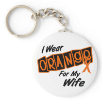 I Wear Orange For My WIFE 8 Keychain
