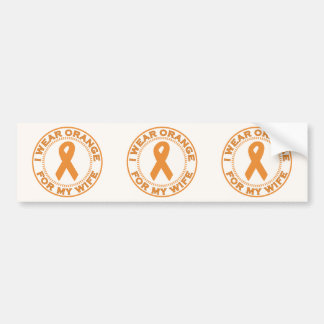 I Wear Orange For My Wife Bumper Sticker