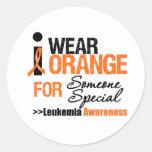 I Wear Orange For Someone Special Round Sticker