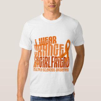 I Wear Orange Girlfriend 6.4 MS Multiple Sclerosis T Shirt