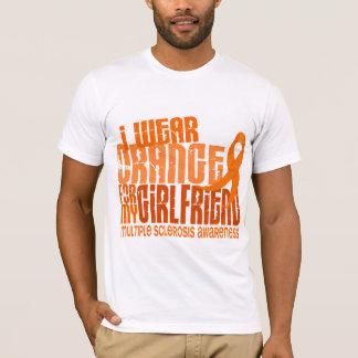 I Wear Orange Girlfriend 6.4 MS Multiple Sclerosis T-Shirt