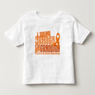 I Wear Orange Grandma 6.4 Multiple Sclerosis MS Toddler T-shirt