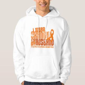 I Wear Orange Husband 6.4 MS Multiple Sclerosis Hoodie