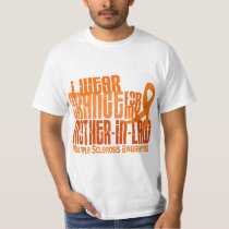 I Wear Orange Mother-In-Law Multiple Sclerosis MS T-Shirt