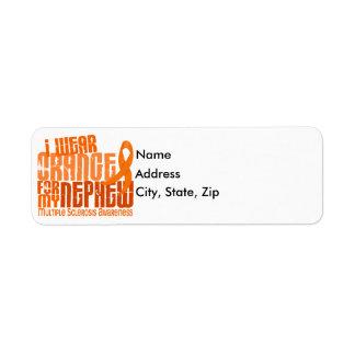 I Wear Orange Nephew Multiple Sclerosis MS Return Address Label