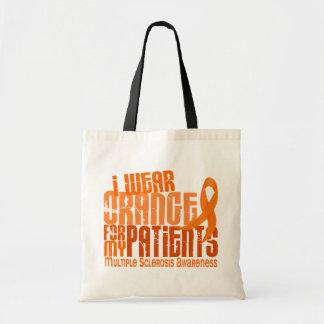 I Wear Orange Patients Multiple Sclerosis MS Canvas Bags