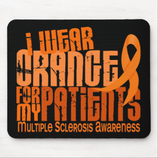 I Wear Orange Patients Multiple Sclerosis MS Mouse Pad