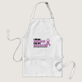 I Wear Orchid For My Husband Adult Apron