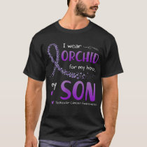 I Wear Orchid For Son Testicular Cancer Awareness T-Shirt