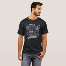 I Wear Orchid For Testicular Cancer Awareness T-Shirt