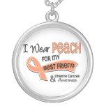 I Wear Peach 42 Best Friend Uterine Cancer Pendant