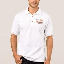 I Wear Peach 42 Cousin Uterine Cancer Polo Shirt