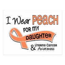 I Wear Peach 42 Daughter Uterine Cancer Postcard