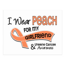 I Wear Peach 42 Girlfriend Uterine Cancer Postcard