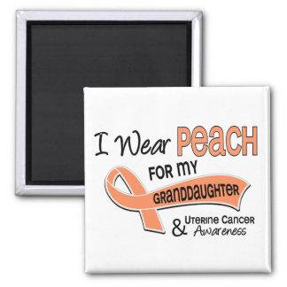 I Wear Peach 42 Granddaughter Uterine Cancer Magnet