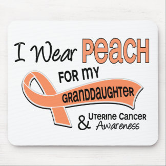 I Wear Peach 42 Granddaughter Uterine Cancer Mouse Pad