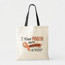 I Wear Peach 42 Grandmother Uterine Cancer Tote Bag