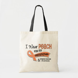 I Wear Peach 42 Grandmother Uterine Cancer Tote Bag