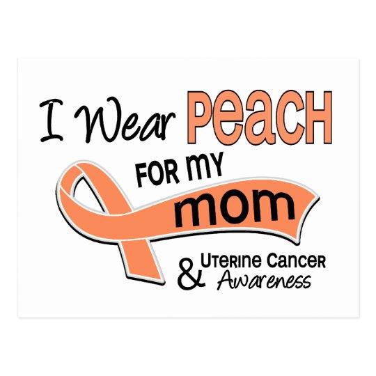 I Wear Peach 42 Mom Uterine Cancer Postcard