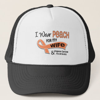 I Wear Peach 42 Wife Uterine Cancer Trucker Hat