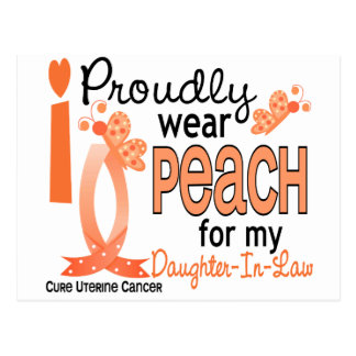 I Wear Peach For Daughter-In-Law 27 Uterine Cancer Postcard