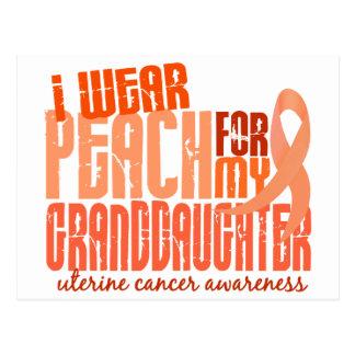 I Wear Peach For Granddaughter 6.4 Uterine Cancer Postcard