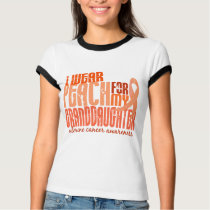 I Wear Peach For Granddaughter 6.4 Uterine Cancer T-Shirt