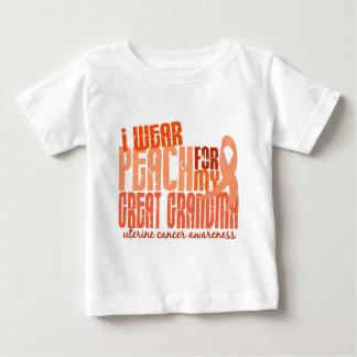I Wear Peach For Great Grandma 6.4 Uterine Cancer Baby T-Shirt