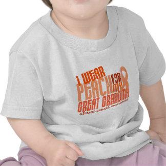 I Wear Peach For Great Grandma 6.4 Uterine Cancer Tee Shirts