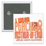 I Wear Peach For Mother-In-Law 6.4 Uterine Cancer Pin