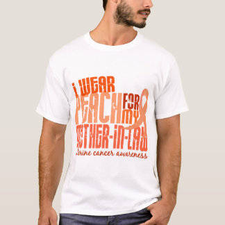 I Wear Peach For Mother-In-Law 6.4 Uterine Cancer T-Shirt