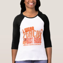 I Wear Peach For My Best Friend 6.4 Uterine Cancer T-Shirt