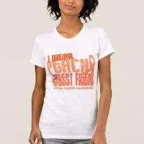 I Wear Peach For My Best Friend 6.4 Uterine Cancer T-Shirt