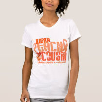 I Wear Peach For My Cousin 6.4 Uterine Cancer T-Shirt
