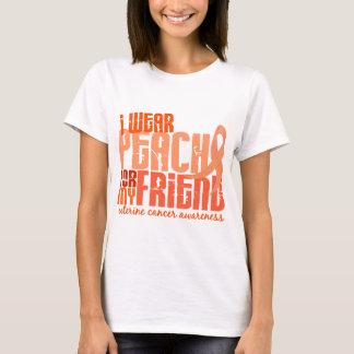 I Wear Peach For My Friend 6.4 Uterine Cancer T-Shirt