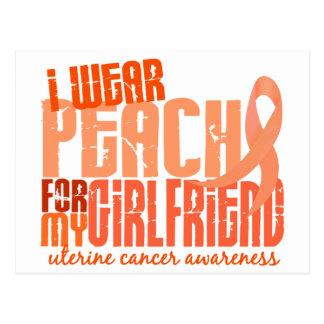 I Wear Peach For My Girlfriend 6.4 Uterine Cancer Postcard