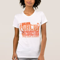 I Wear Peach For My Godmother 6.4 Uterine Cancer T-Shirt