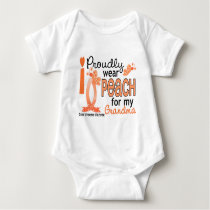 I Wear Peach For My Grandma 27 Uterine Cancer Baby Bodysuit