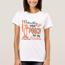 I Wear Peach For My Grandma 27 Uterine Cancer T-Shirt