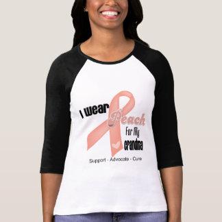 I Wear Peach For My Grandma - Uterine Cancer T-Shirt