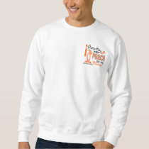 I Wear Peach For My Mom 27 Uterine Cancer Sweatshirt