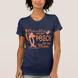 I Wear Peach For My Mom 27 Uterine Cancer T-Shirt