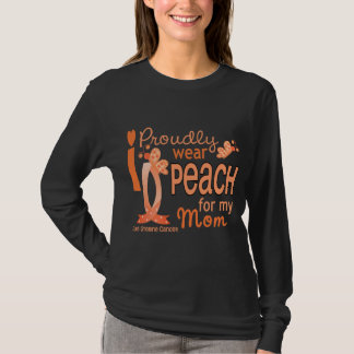 I Wear Peach For My Mom 27 Uterine Cancer T-Shirt