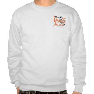 I Wear Peach For My Mom 27 Uterine Cancer Pull Over Sweatshirts