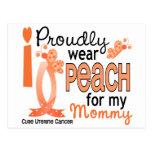 I Wear Peach For My Mommy 27 Uterine Cancer Postcard