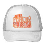 I Wear Peach For My Sister 6.4 Uterine Cancer Trucker Hats