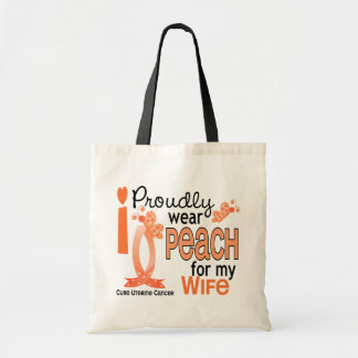 I Wear Peach For My Wife 27 Uterine Cancer Tote Bag