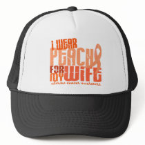 I Wear Peach For My Wife 6.4 Uterine Cancer Trucker Hat