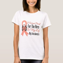 I Wear Peach For The Hero in Life...My Grandmother T-Shirt